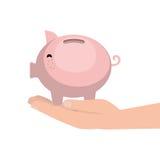 Piggy savings money icon. Vector illustration design Stock Photos