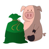 Piggy savings money icon. Vector illustration design Royalty Free Stock Image