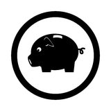 Piggy savings money icon Royalty Free Stock Images