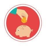 Piggy savings money icon. Vector illustration design Stock Images
