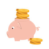 Piggy savings money icon Royalty Free Stock Photo