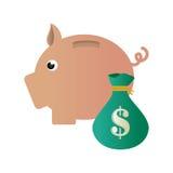 Piggy savings money icon. Vector illustration design Royalty Free Stock Images