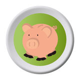 Piggy savings money icon. Vector illustration design Stock Photo