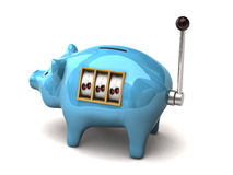 Piggy slot machine Stock Image