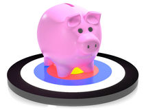 Piggy on target Royalty Free Stock Images