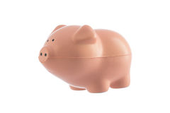 Piggy toy isolated on a white Royalty Free Stock Images