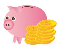 Piggy vector Stock Photos