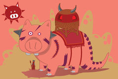 Piggy war Stock Images