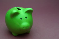Piggy went to the bank Royalty Free Stock Images