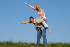 Piggyback Stock Image