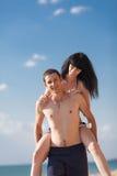 piggyback royaltyfri fotografi