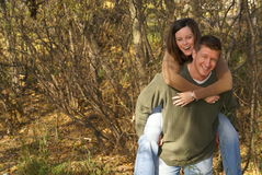 Piggyback Couple Love Romance Royalty Free Stock Photography