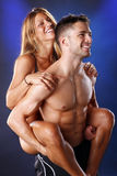 Piggyback love Royalty Free Stock Image
