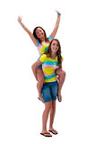 Piggyback ride Stock Image