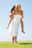 Piggyback ride Royalty Free Stock Photo