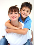 Piggyback ride Stock Photos