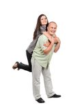 Piggyback ride Royalty Free Stock Images