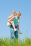 Piggyback ride Royalty Free Stock Photos