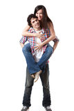 The Piggyback Ride Royalty Free Stock Photography