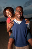 Piggyback ride outside Royalty Free Stock Images