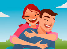 Piggyback vector Royalty Free Stock Image