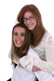 piggybacking подросток Стоковое Фото