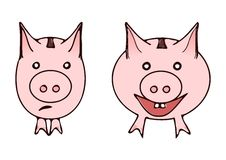 Piggybank. Illustration of filled and emty piggybank Royalty Free Stock Images