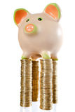 Piggybank auf die Oberseite Lizenzfreies Stockfoto