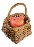 Piggybank and Basket Stock Image