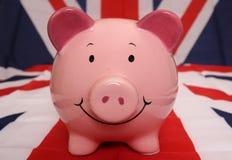 Piggybank británico Fotos de archivo