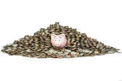 Piggybank Build Savings. Once you get in the habit of saving, you will exceed your expectations royalty free stock image
