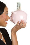Piggybank Businesswoman Stock Image