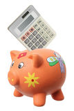 Piggybank and Calculator Stock Photography
