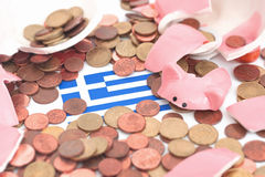 Piggybank cassé Photo stock