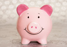 Piggybank do Natal fotos de stock