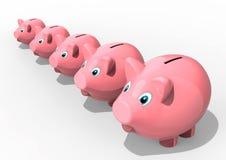 Piggybank family Royalty Free Stock Photography