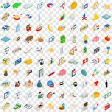 100 piggybank icons set, isometric 3d style. 100 piggybank icons set in isometric 3d style for any design vector illustration Stock Photo