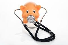 Piggybank met Stethoscoop royalty-vrije stock fotografie