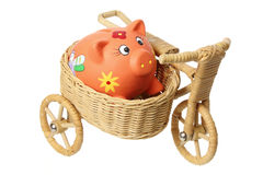 Piggybank on Miniature Sidecar Royalty Free Stock Photo