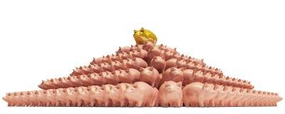 Piggybank-pirámide Imágenes de archivo libres de regalías