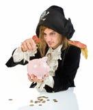 piggybank piratkopierar royaltyfri bild