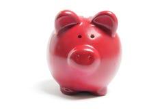 Piggybank rosso Immagini Stock