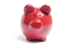 Piggybank rouge Images stock