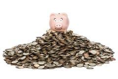 Piggybank Savings. With Dedicated savings plan one can fill a piggybank and more royalty free stock photos
