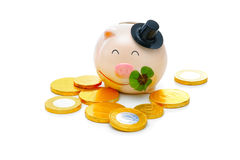 Piggybank with shamrock Stock Photography