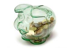 Piggybank transparente imagen de archivo libre de regalías