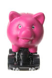 Piggybank on Wheels Stock Image