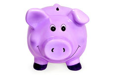 piggybank. On white background Stock Images