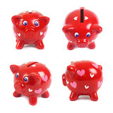 Piggys nell'amore Fotografie Stock Libere da Diritti