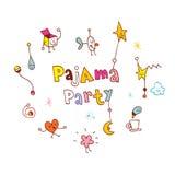 Pigiama party royalty illustrazione gratis